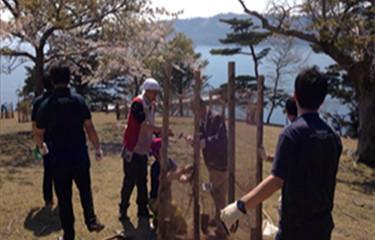 No.71 金華山での防鹿柵の設置