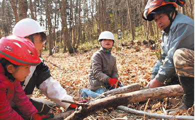 森林作業体験