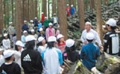 ボランティアによる森林の整備活動