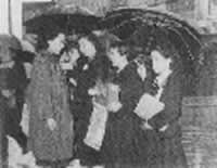 初の全日本学校植林コンクールの表彰式